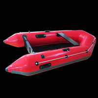 [GT131]Red inflatable motor boats